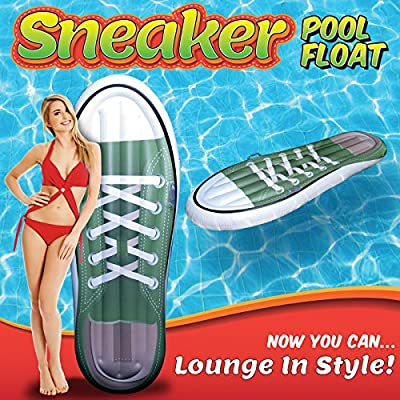 Jet Creations Inflatable Tennis Shoe sneaker  Design Pool Floatie Ridable Blow Up Summer Beach Swimming Pool Party Lounge Raft Decorations Toys Kids Adults 72