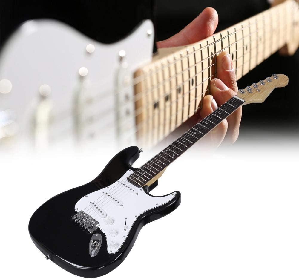 Electronic Rock Guitar 33 Pulgadas, Guitarra Eléctrica de Madera 6 ...