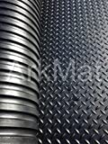 Heavy Duty Large Rubber Mat Checker Plate Commercial Flooring 12mm Garage Gym Flooring Natural