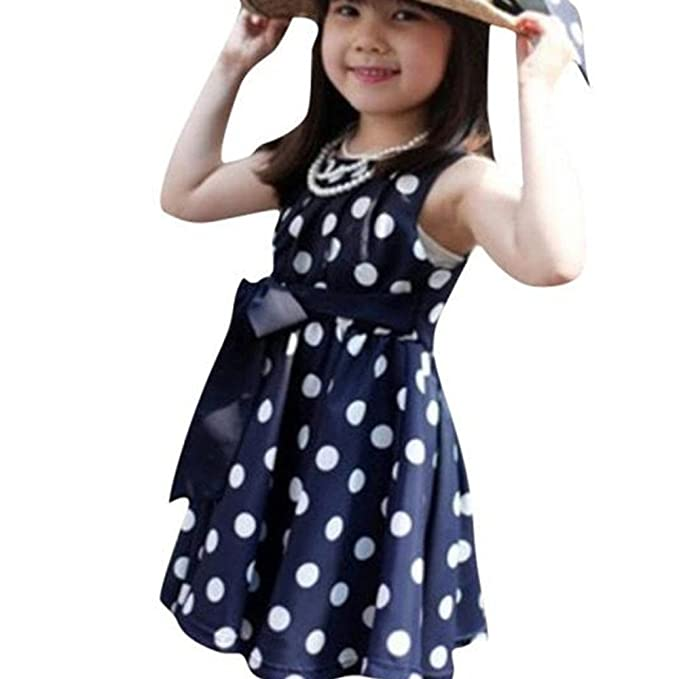 8547d275163da Turkey for 2-7 Years Old, Toddler Baby Kid Little Girl Polka Dot Chiffon  Sundress Dress Clothing Outfits: Amazon.co.uk: Clothing
