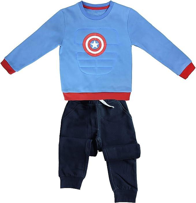 CapitanAmerica - Chándal - para niño Turquesa 4/5 Años: Amazon.es ...