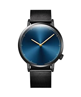 Balakie Mens Wristwatch Minimalist Design Stainless Steel Mesh Band Analog Quartz Watch-A83 Lover Travel Gift