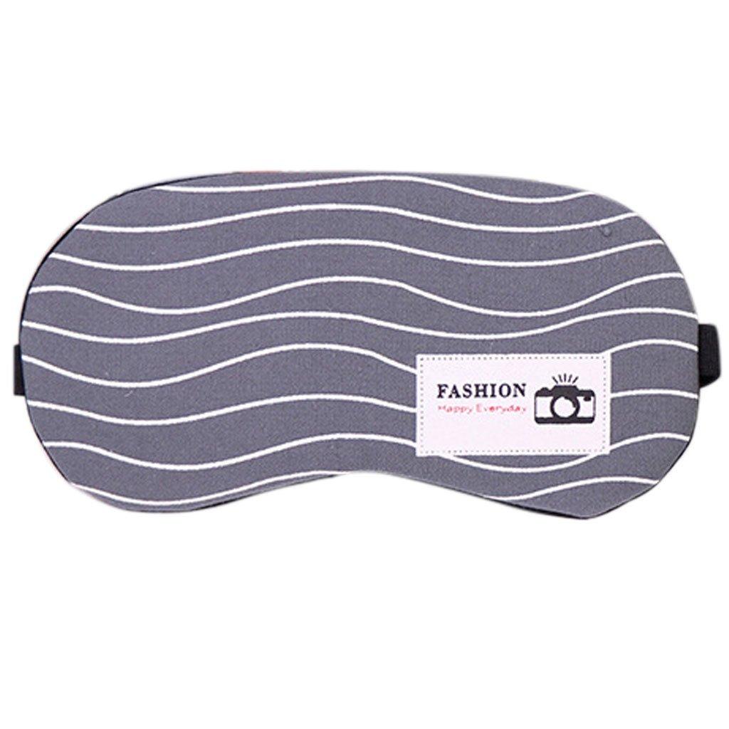 lunjimasque di sonno con sacchetto di ghiaccio–Super MORBIDO Maschera di Notte di viaggio–Sleep Mask multicolore 5# 19.5x9.5cm