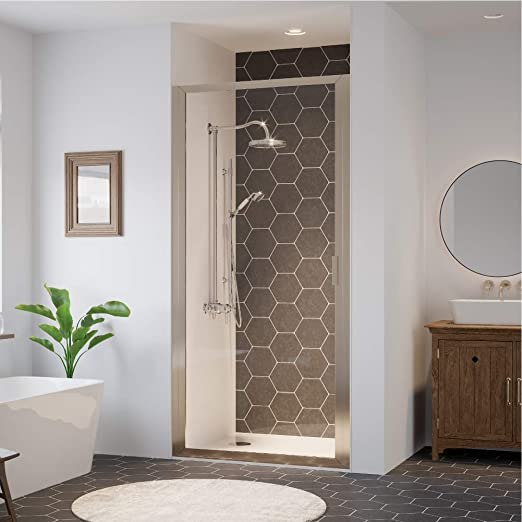 Coastal Shower Doors P23 70n C Paragon Series Framed Continuous Hinge Shower Door With Clear Glass 23 X 69 Brushed Nickel Amazon Com