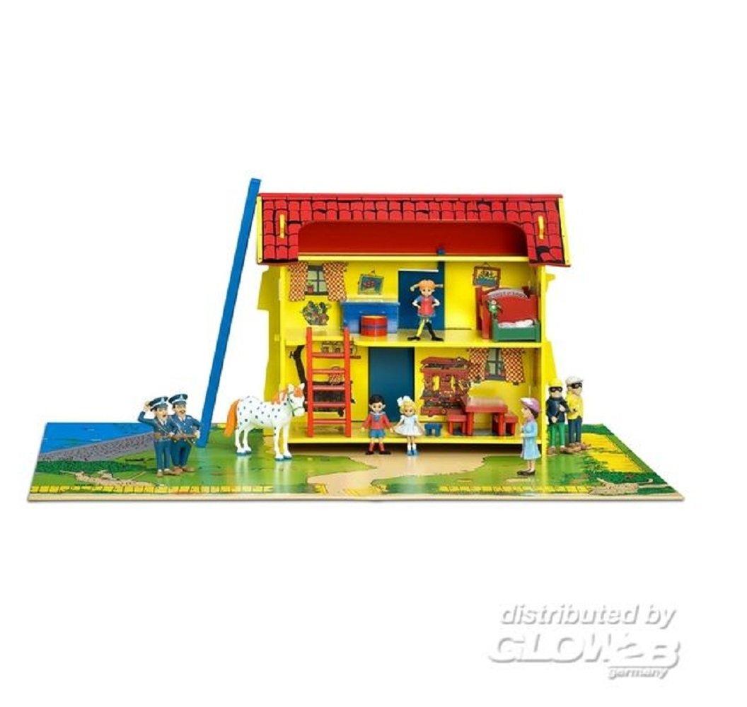 Puppenhaus / Holz Puppenhaus Pippi Langstrumpf Villa Kunterbunt / Astrid Lindgren / hochwertiges Puppenhaus aus Holz / farbenfrohes Puppenhaus