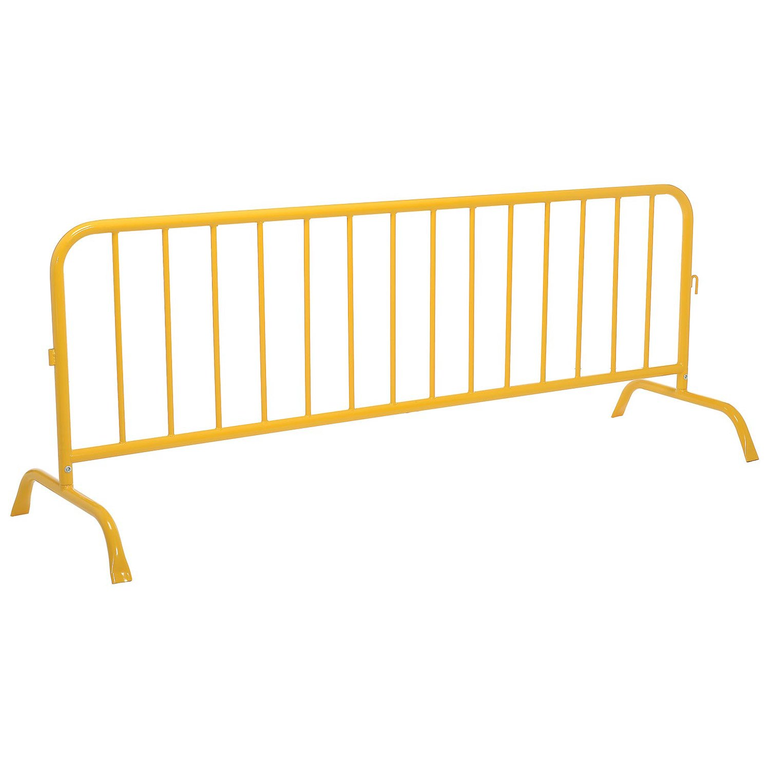 Crowd Control Barrier, Yellow Powder Coated Steel, 102''L x 40''H