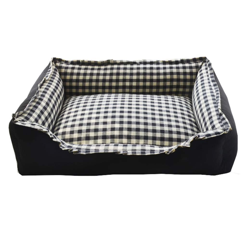 BLACK M BLACK M GOUWO Kennel Warm Washable Pet Nest Kennel Small And Medium Kennel Pet Bed Cat Litter Cat House Washable Four Seasons Available (color   BLACK, Size   M)