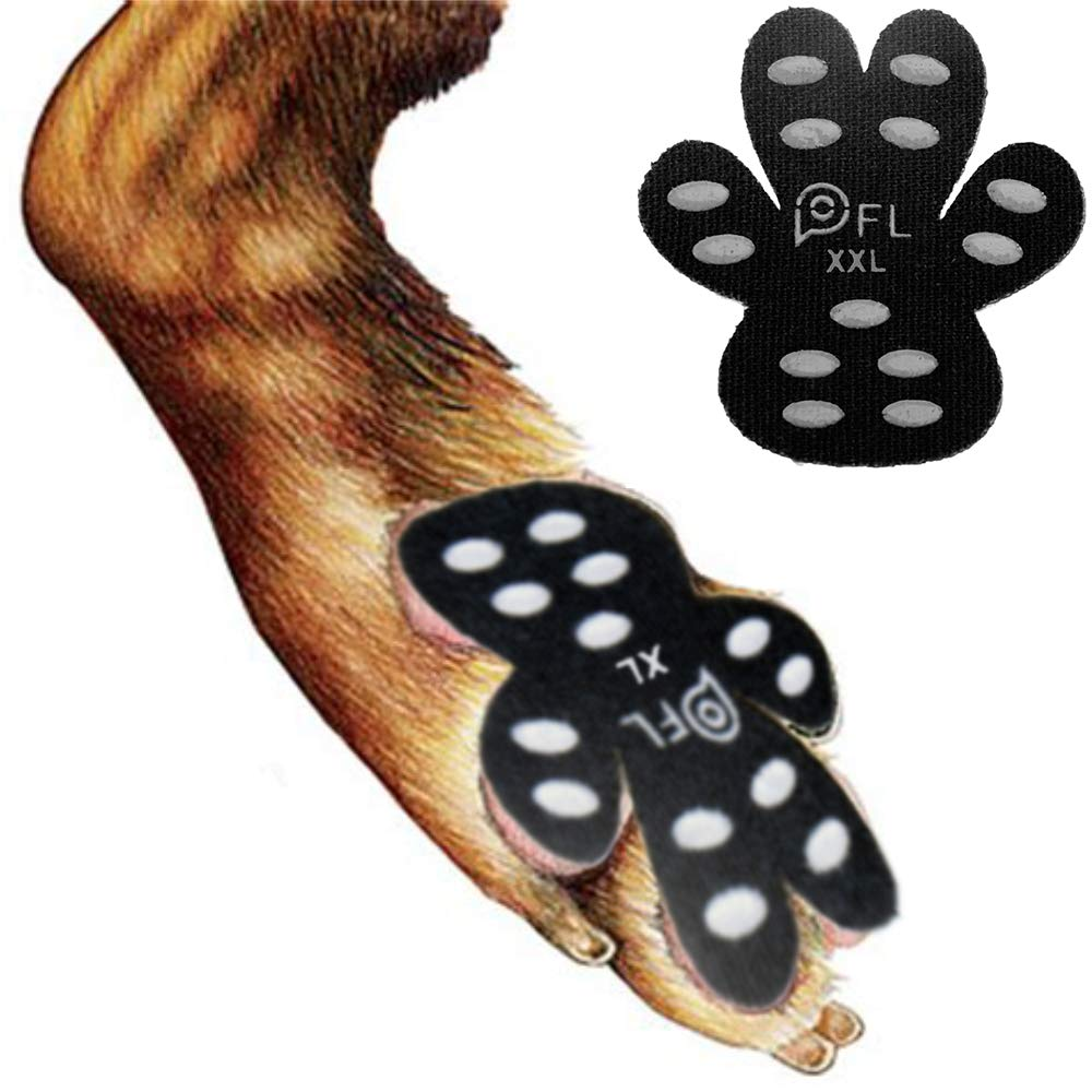 Dog Paw Protection Anti-Slip Traction Pads with Grips, 24 Pieces Self Adhesive Disposable Dog Shoes for Hardwood Floor Indoor Wear (XXL-2.48''x2.68'', 61-80 lbs) by PICK FOR LIFE