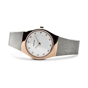 BERING Reloj Analógico para Mujer de Cuarzo con Correa en Acero Inoxidable 11927-064: Amazon.es: Relojes