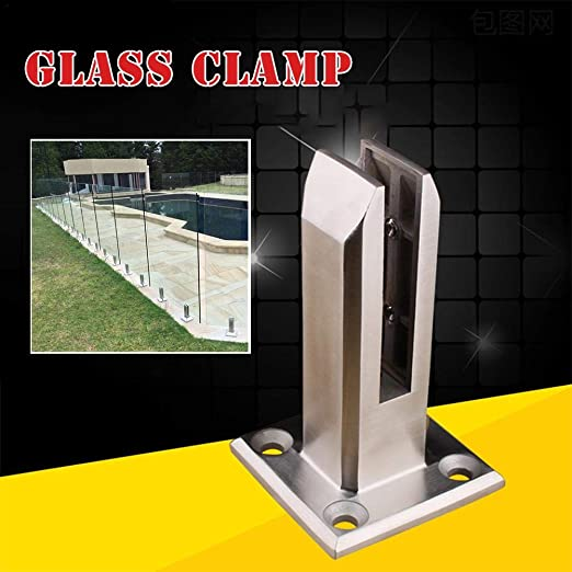 Bouder - Pinza de cristal de acero inoxidable para postes de ...