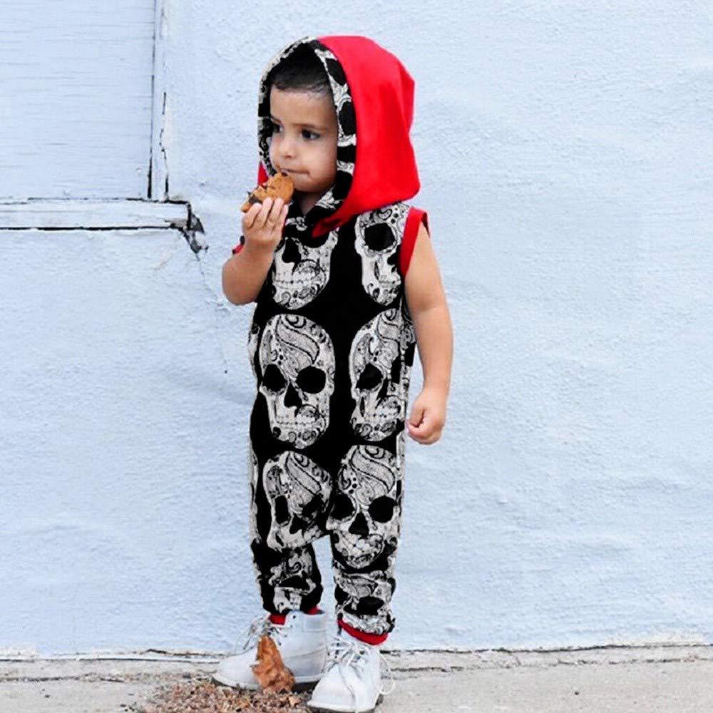 Bestow Bebé niño niña de Manga Corta con Estampado de Calavera Mono Mameluco Mameluco Mono Trajes Casuales Ropa: Amazon.es: Ropa y accesorios