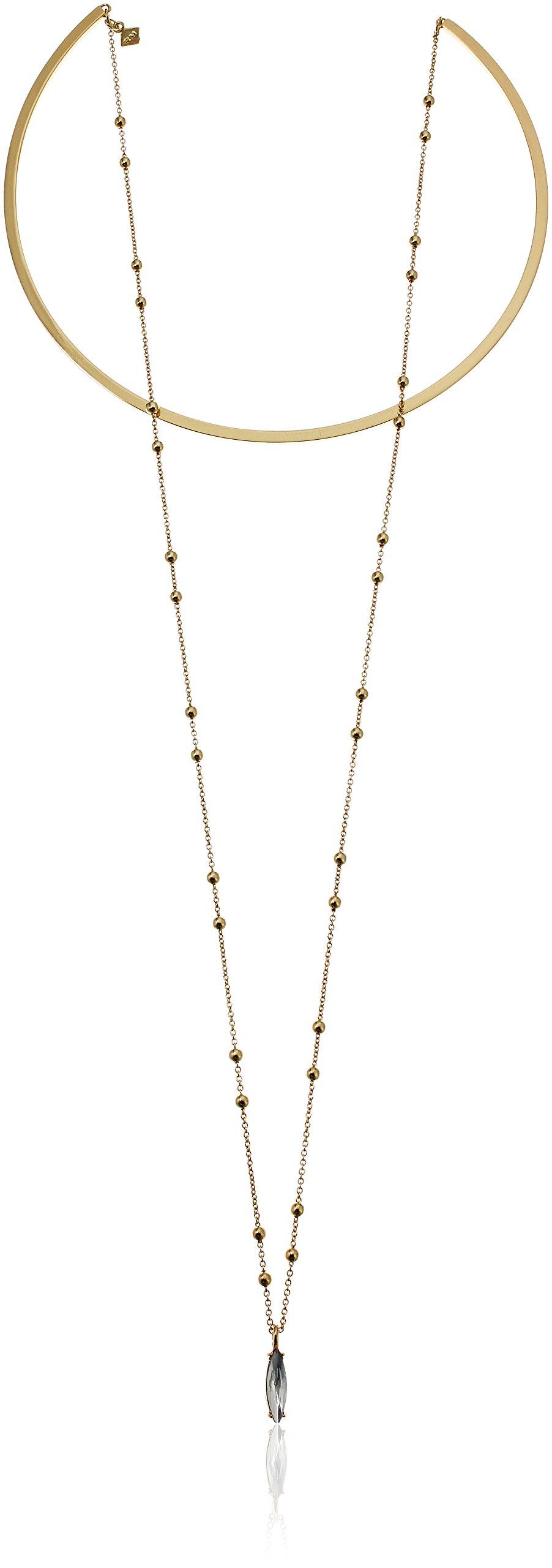Rebecca Minkoff Gemini Gold Collar Necklace