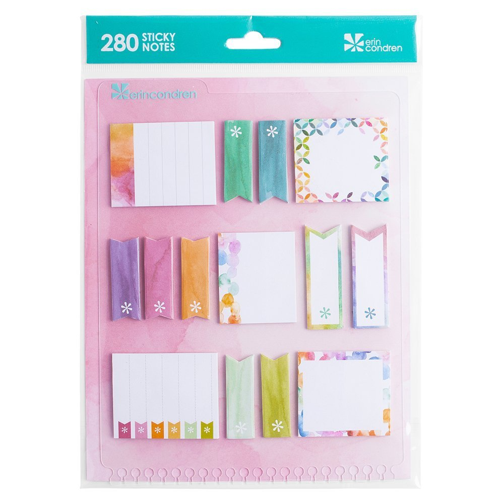 Erin Condren Snap-in Stylized Sticky Notes, Watercolor (Acc STYSNM WC)