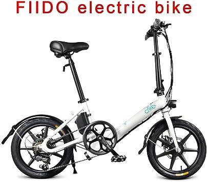 FIIDO Ebike Plegable con Amortiguador, Bicicletas Electricas con 7.8ah Litio Batería & 250w Motor, Montaña Bicicleta para Adultos Adultos Hombres Mujeres (Blanco): Amazon.es: Deportes y aire libre