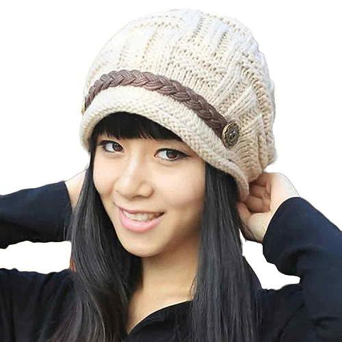 Tefamore Sombrero de las Mujeres Invierno de Caliente Gorro de Suave de Moda de elegante de Esquiar