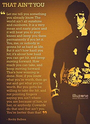 Rocky Balboa Quotes Amazon.com: Rocky Balboa (Quotes 12) Get Motivated Poster 12 x 15  Rocky Balboa Quotes