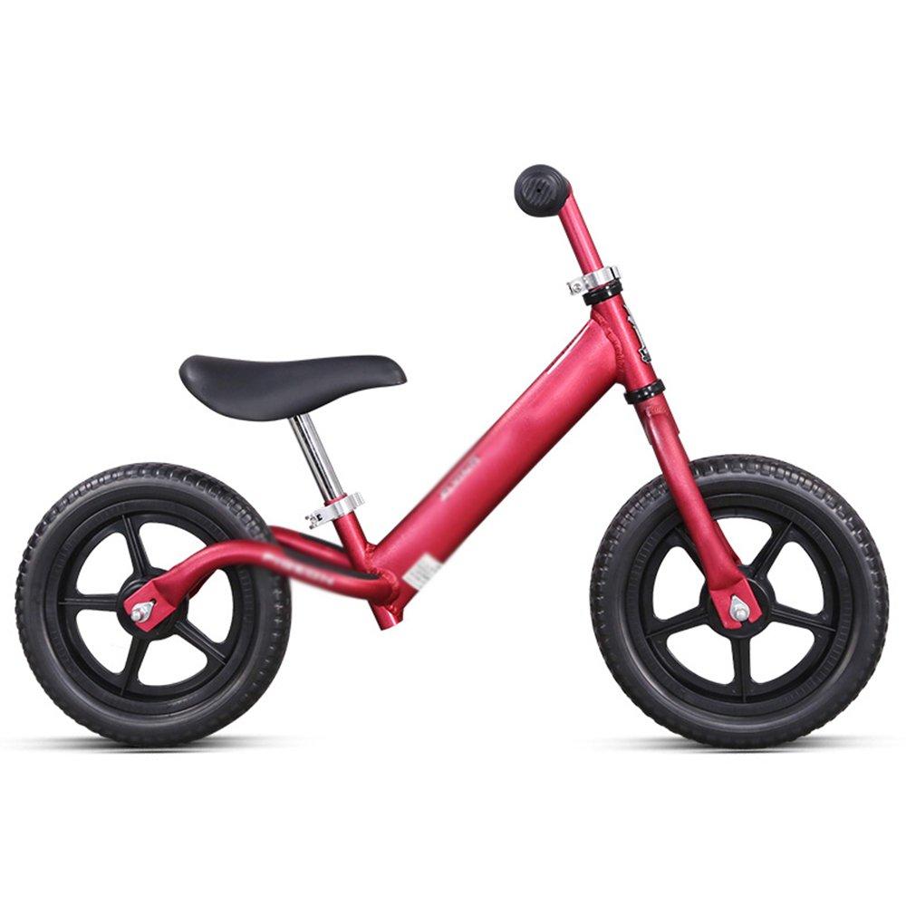 LVZAIXI 子供のバランスの自転車メタルボーイズガールズランニングウォーキングトレーニング自転車 ( 色 : 赤 ) B07CLZC444 赤 赤