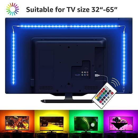 2 m LED TV Retroiluminación USB Bias iluminación con 16 colores y ...