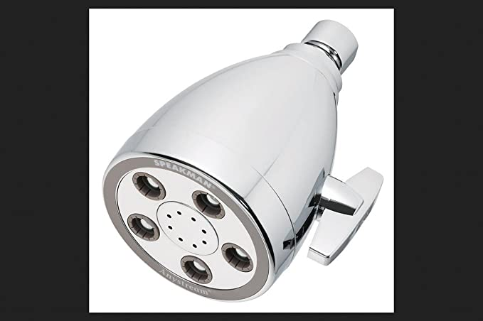 Speakman Shower Head 3 1 2 Chrome Finish 2 5 Gpm Fixed Showerheads Amazon Com