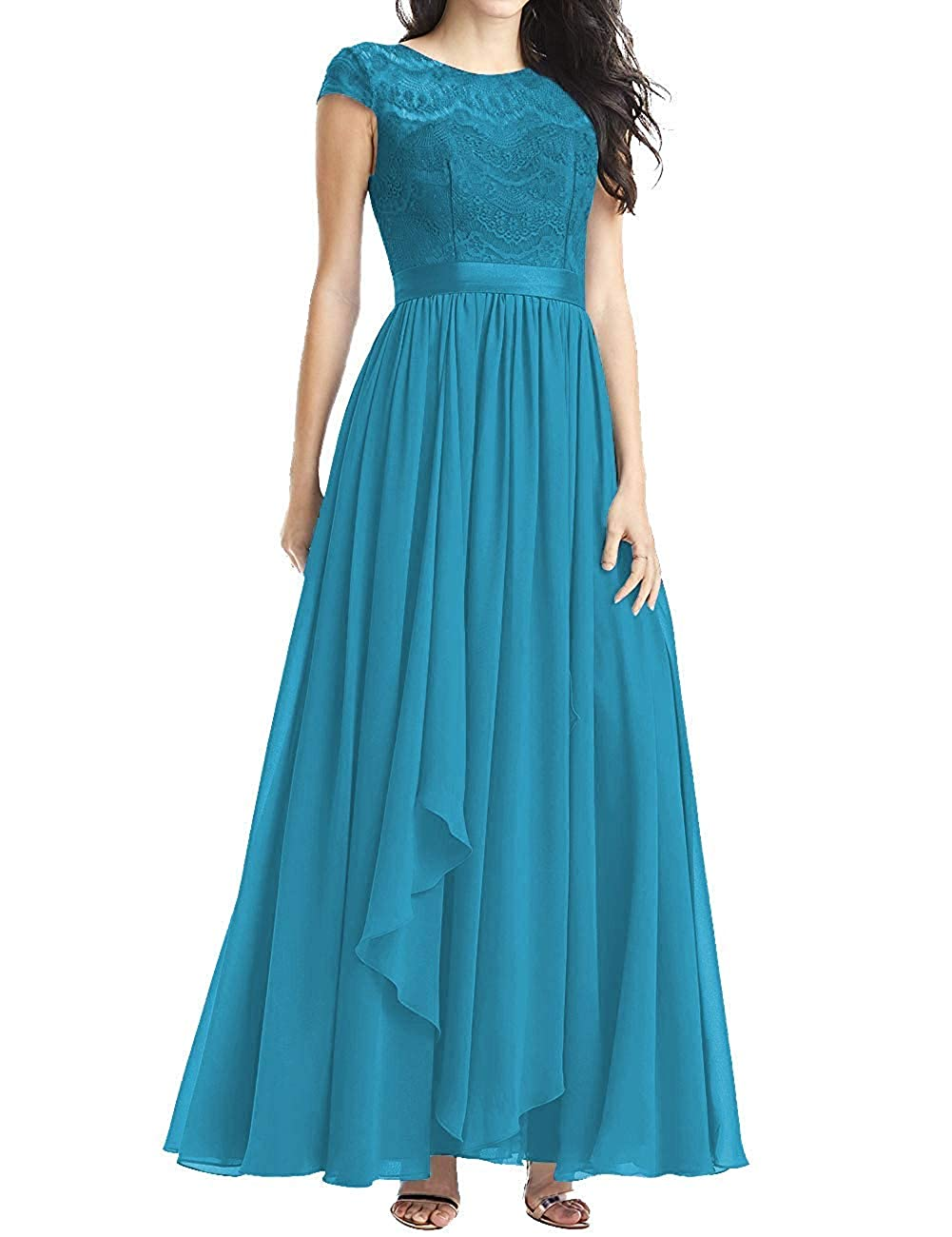 bluee Mother of The Bride Dresses Plus Size Evening Dresses with Sleeves Formal Gowns for Women Evening Dress