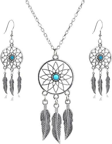 Atrapasueños collar y pendientes Set Colgante-Elegante Caja De Regalo
