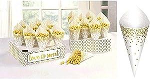 Wedding Snack Cones w/ Tray