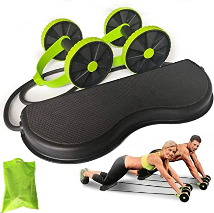 Training At Home-Power Roll Ab Trainer Stretch Elastic Abdominal