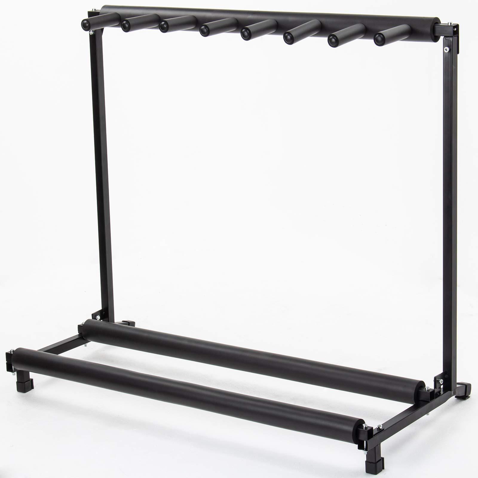 AJO Multi Guitar Stand,7 Holder Guitar Folding Portable Storage Organization Stand Display Rack,Black by AJO (Image #2)