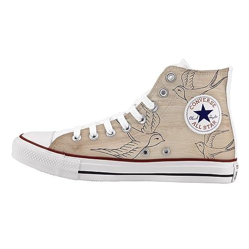 De Tattoo Zapatos Artesanía E Impresos Converse Personalizados Ybfyv7I6g