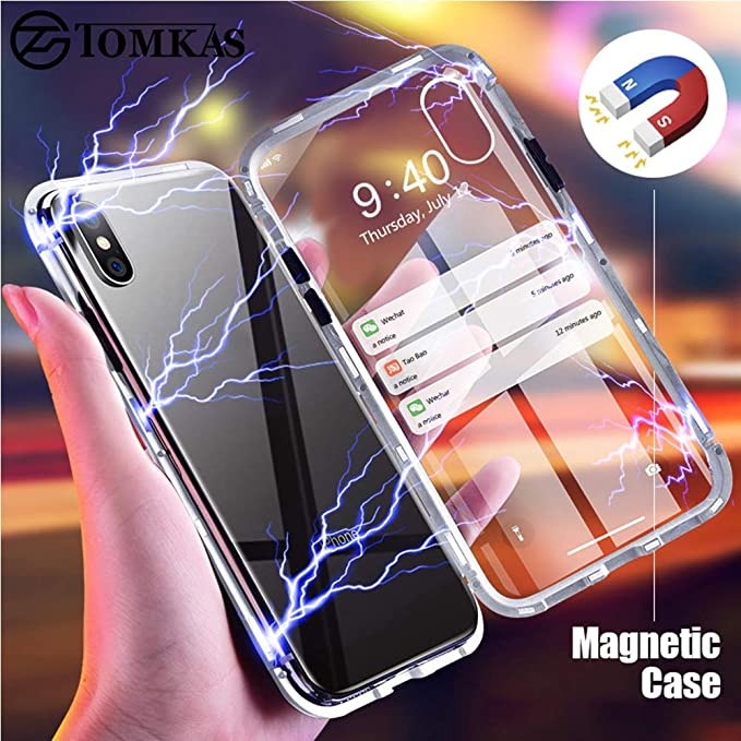 Amazon.com: TOMKAS Magnetic Case for Samsung Galaxy S9 S8 ...
