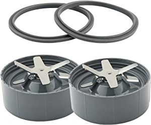 Replacement Extractor Blades, 2 Extra Gaskets, Compatible with Nutribullet 600w and 900w Model Blender (2 Packs)