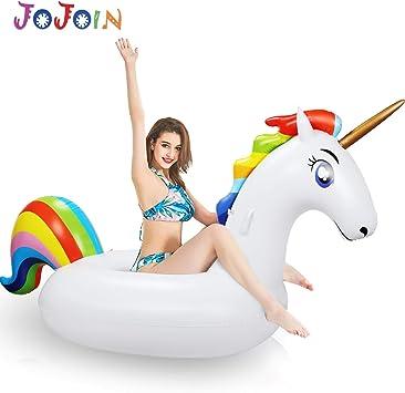 JOJOIN Colchoneta Inflable Unicornio Juguetes para la Piscina ...