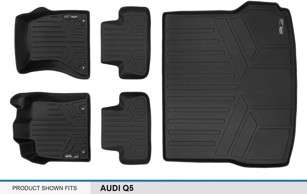 2009-2017 Complete Set MAXLINER A0214//B0214 Floor Mats for Audi Q5 Black