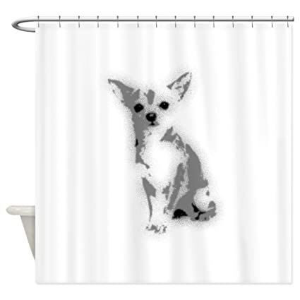 Image Unavailable Not Available For Color CafePress Chihuahua Shower Curtain