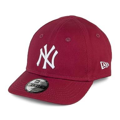 New Era Hats Baby 9FORTY New York Yankees Baseball Cap - League Essential -  Cardinal Infant 4cf145c8cc8b