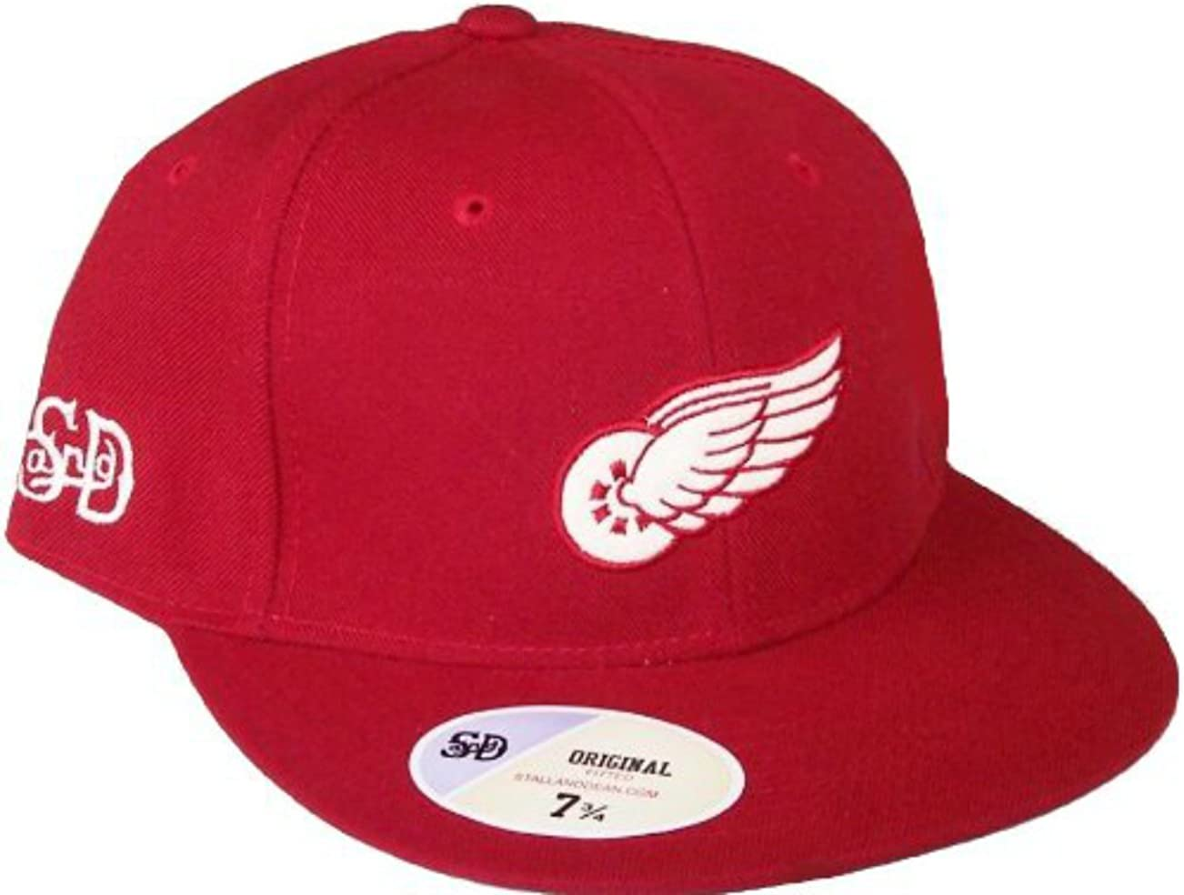Genuine Merchandise Detroit Red Wings Vintage Logo Red Fitted 7 7//8 Hat Cap