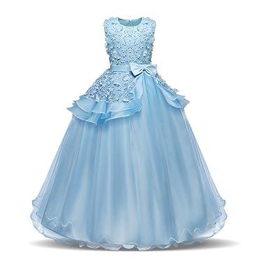 Vlunt VLUNT Ärmelloses Kleid Prinzessin Kleid kleines Mädchen Kleid ...