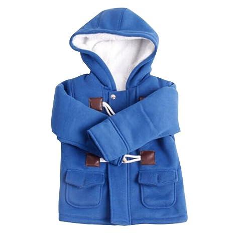 Highdas Niños Duffle abrigo invierno cálido paño grueso y suave de algodón con capucha botón Snowsuit