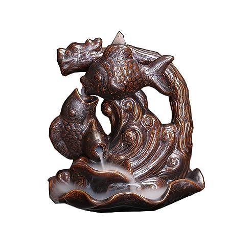 irugh Wisp de Incienso invertido Horno en Forma de dragón cerámica ...