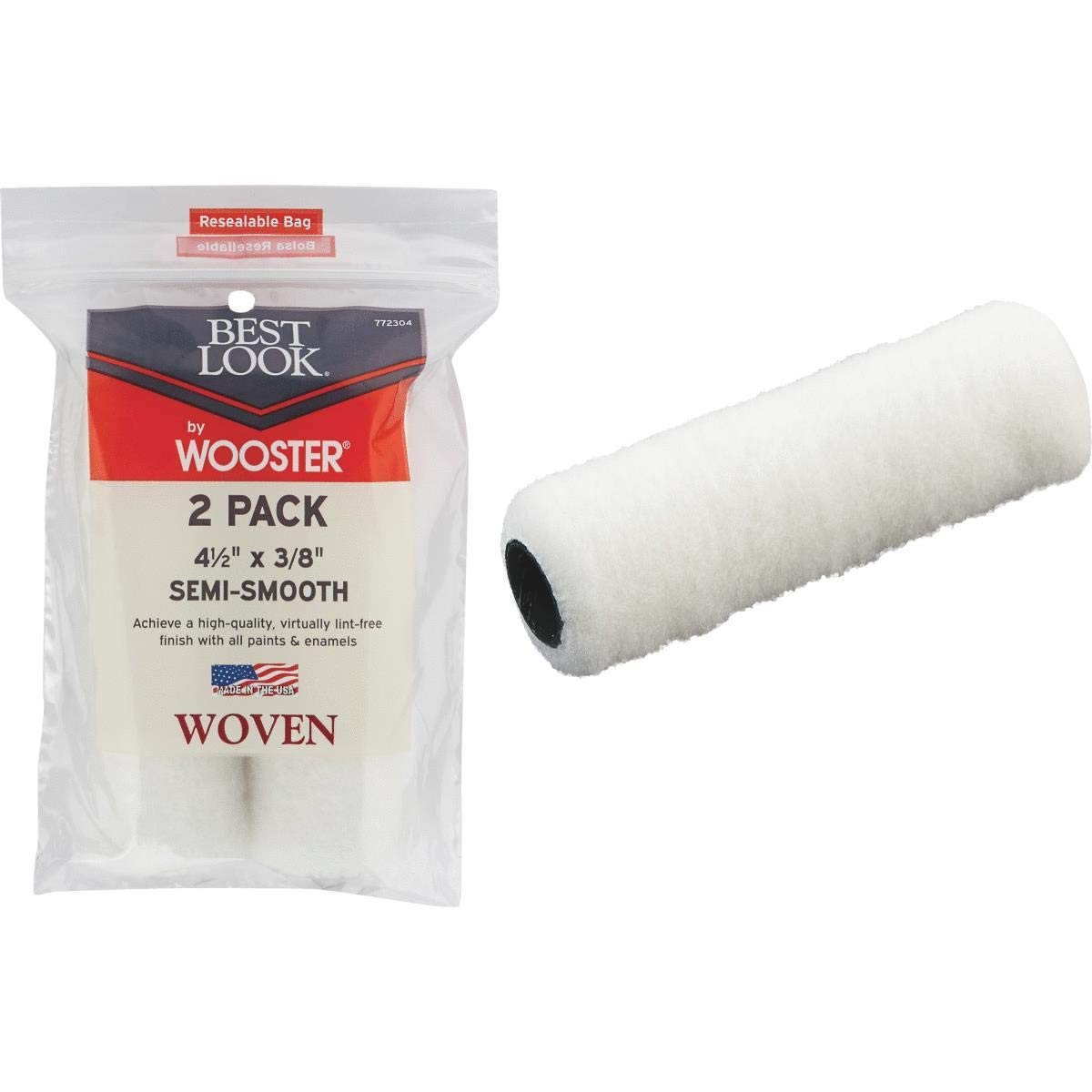 WOOSTER BRUSH DR458-4 1/2 Mini Woven Cover, 4.5''