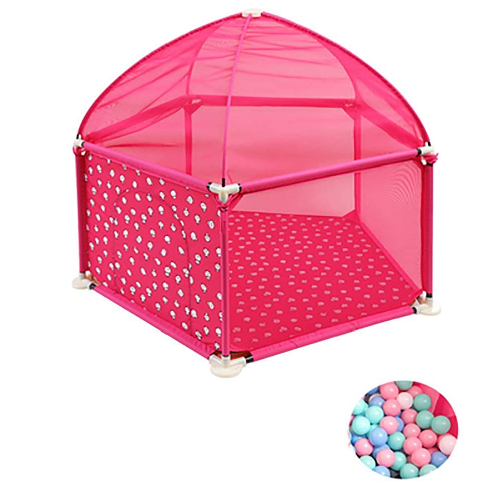 赤ちゃんの囲い 子供の保護フェンスベビーフェンスベビー幼児バーの幼児バーのホーム(オーシャンボールを送る) (色 : Pink)  Pink B07JCYZ58P