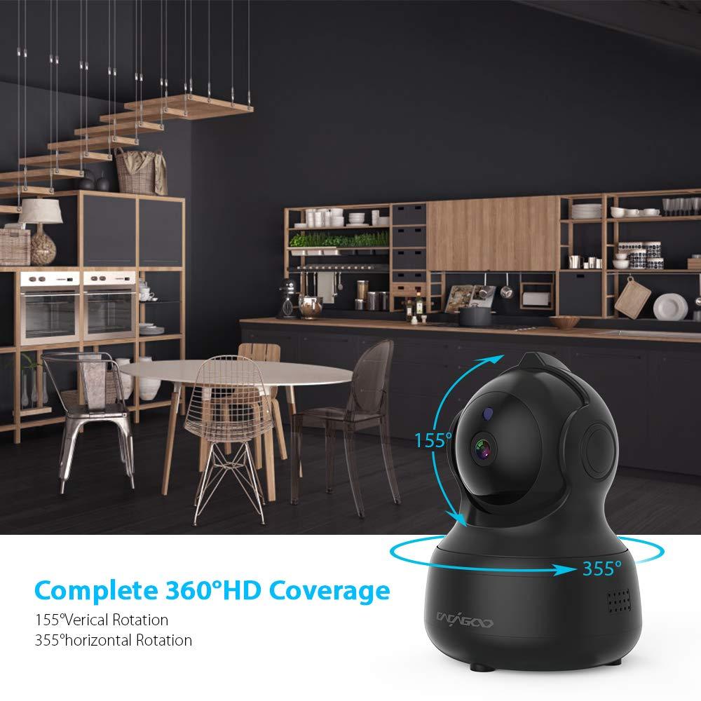 CACAGOO Telecamera di Sorveglianza WiFi Camera Wireless Interno,Videocamera di Sorveglianza con Visione Notturna,Audio a 2 Vie