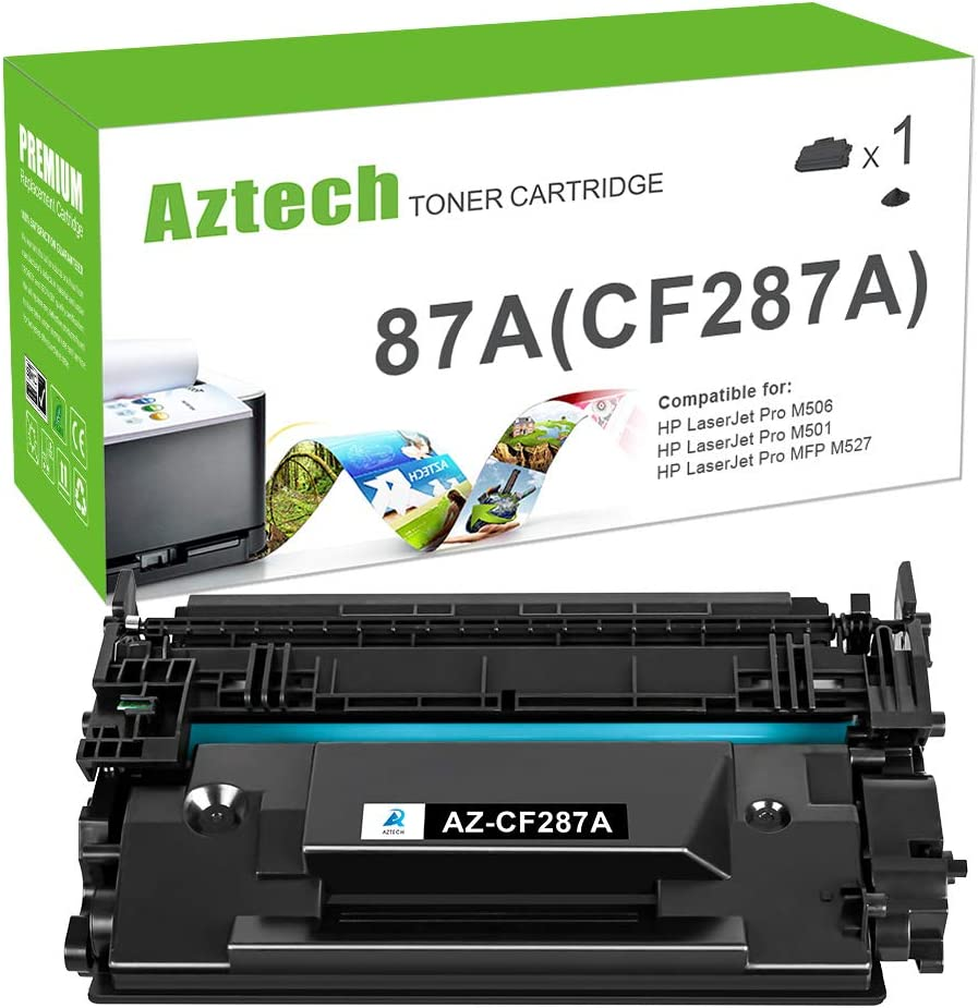 Aztech Compatible Toner Cartridge Replacement for HP 87A CF287A 87X CF287X Laserjet Enterprise M506 M506dn M506n M506x M527dn Laserjet Pro M501dn (Black, 1-Pack)
