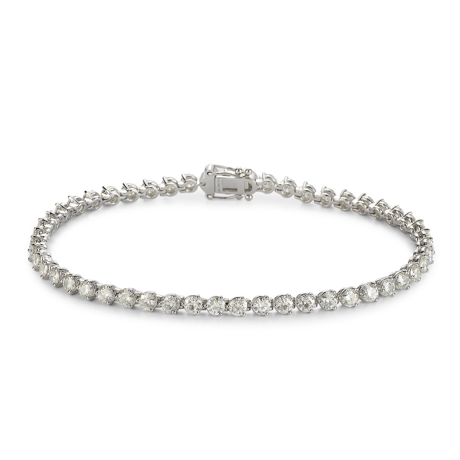 Forever Classic Round 3.25mm Moissanite Tennis Bracelet, 6.63cttw DEW by Charles & Colvard