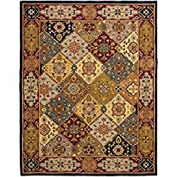 Safavieh Heritage Collection HG512B Handcrafted Traditional Oriental Multi and Red Wool Area Rug (6' x 9')