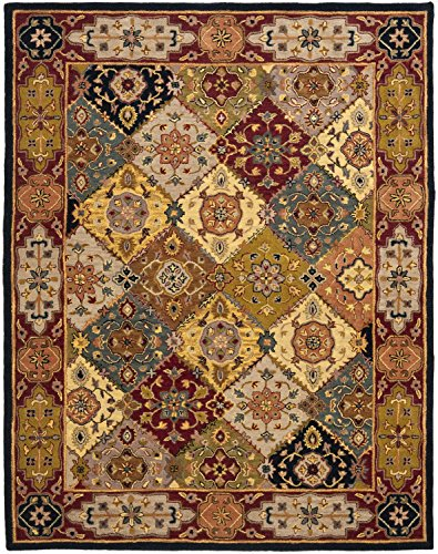 Safavieh Heritage Collection HG512B Handcrafted Traditional Oriental Multi and Red Wool Area Rug (11' x 17')