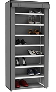 Sunbeam Multipurpose Portable Wardrobe Storage Closet Rack For Shoes And  Clothing 7 Tier/Fits 24
