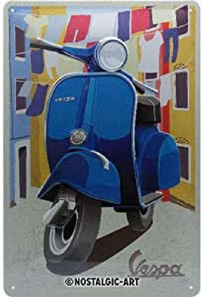 Nostalgic-Art Cartel de chapa retro Vespa – Italian Laundry – Idea de regalo para los aficionados a las scooters, metálico, Diseño vintage, 20 x 30 cm