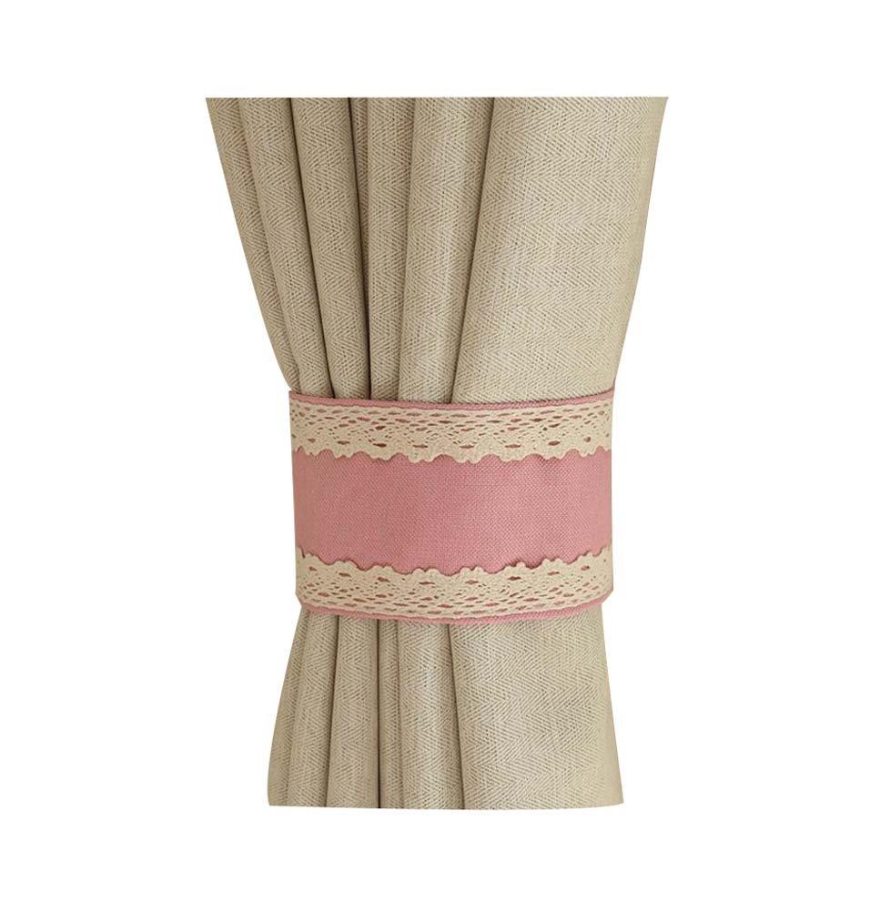 Creative Curtain Accessories Fashion Curtain Tiebacks Buckles, Pink Black Temptation