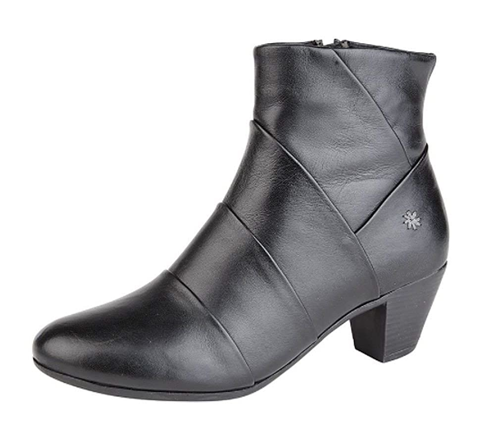453bc1966afd Cipriata Womens Ladies Leather Comfort Mid Heel Ankle Boots Memory Foam  Black Size 3 4 5 6 7 8  Amazon.co.uk  Shoes   Bags